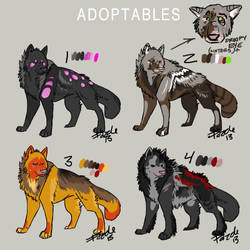 Adoptable Wolves 4 by fazzle