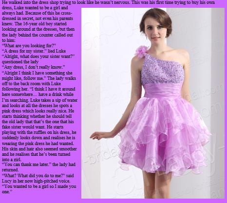 Tg cap pink dress by randomtgcaps