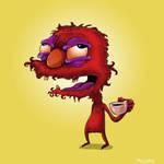 Elmo Before Coffee