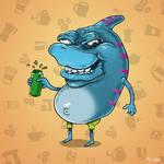 Street Sharks Caffeine Junkie