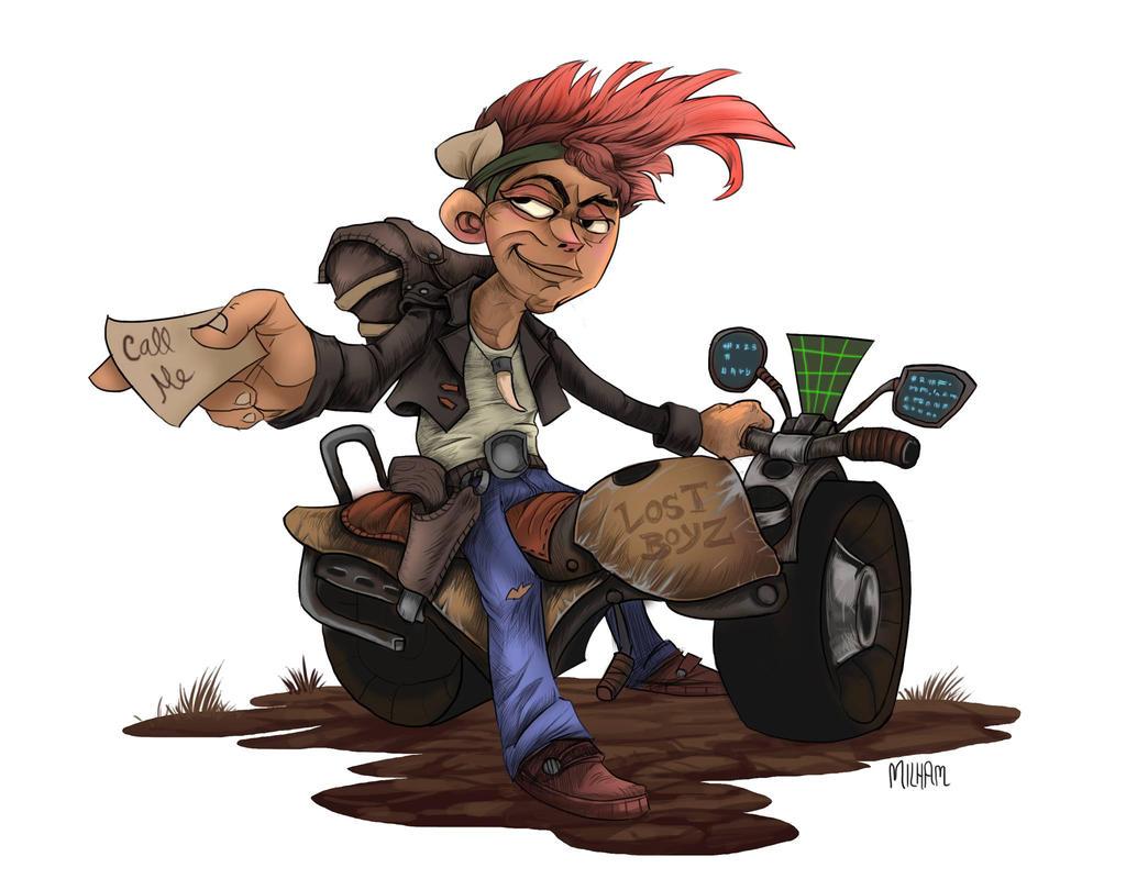 Wasteland Motorbiker