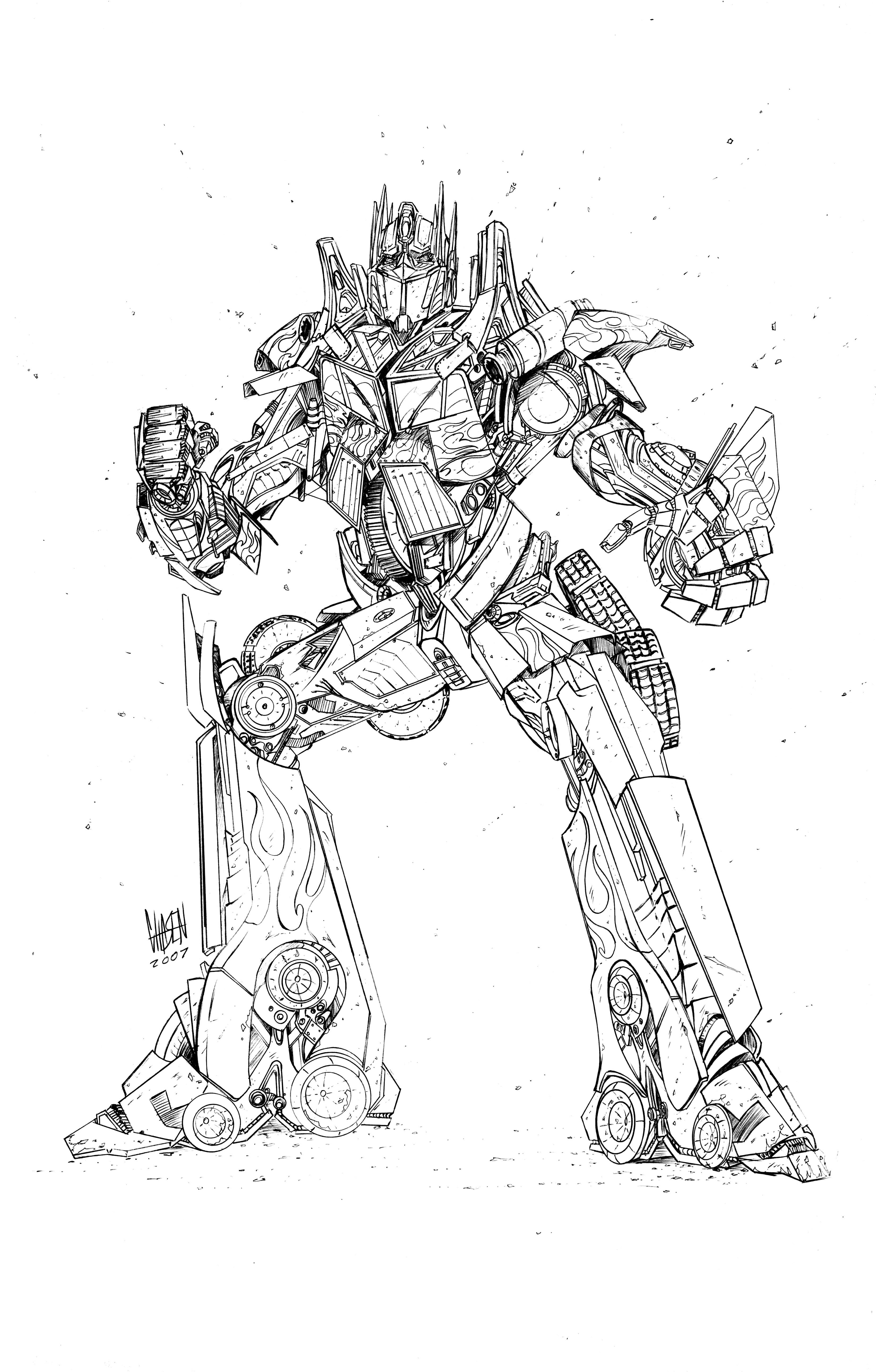 disegni da colorare transformers megatron