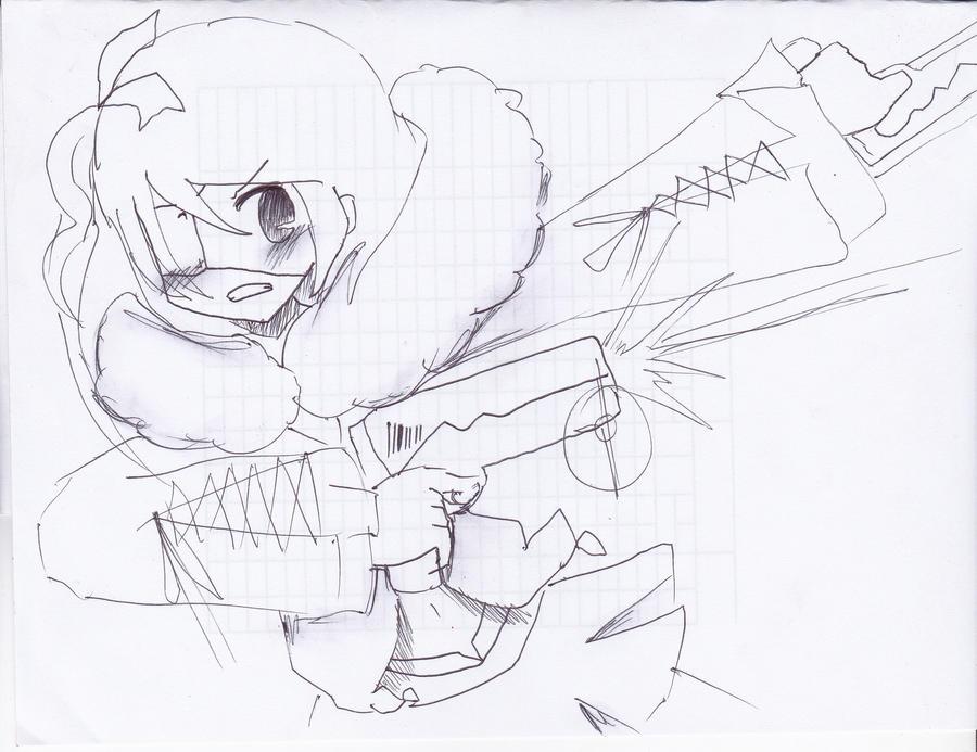 2. Ellan The Gunslinger by mikkan213