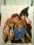 Cross Stitch anime Uchouten Kazoku by Elrik1594