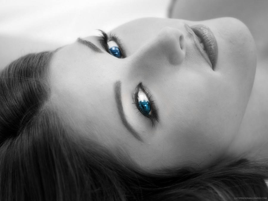 Lucy Pinder Blue Eyes by moguinho on DeviantArt
