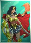 Wonder Woman in Armor Colors