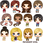 CP Batch : Resident Evil Girls by AngelicHellraiser