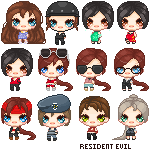 CP Batch : Resident Evil Girls (2) by AngelicHellraiser