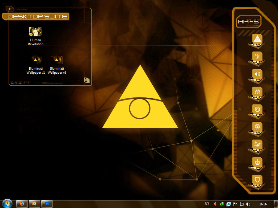 DXHR: Illuminati Desktop 2.0.1 by Krysalid