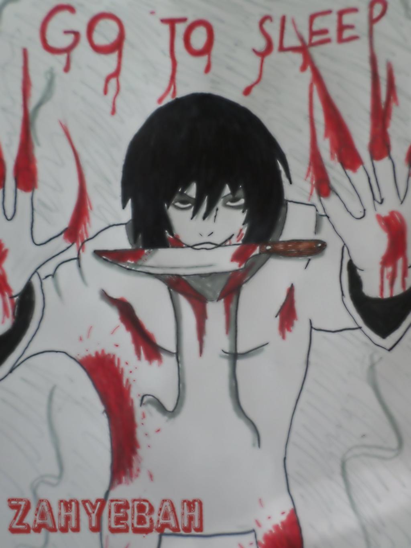 Jeff the killer- Behind the window by Zahyebah