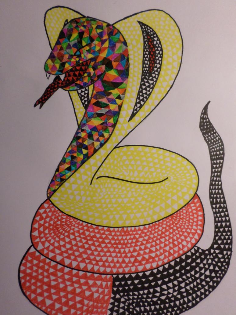 Triangle snake by Zahyebah