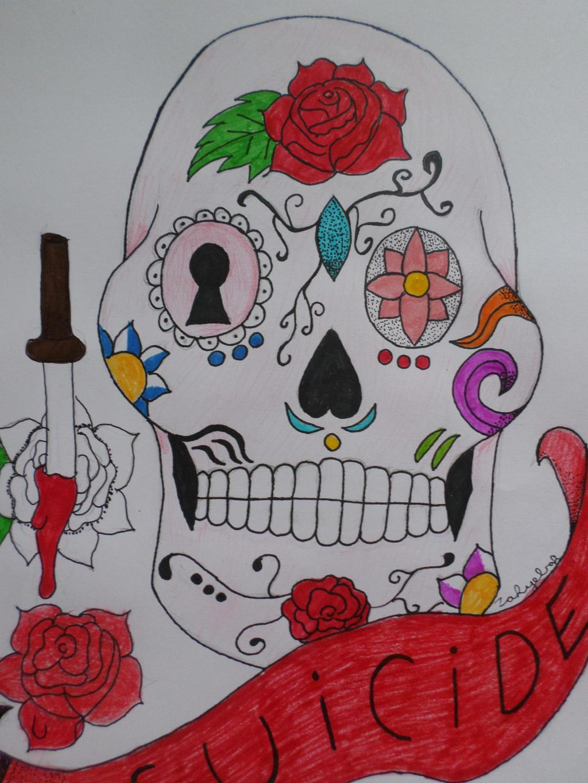 Sugar Skull by Zahyebah
