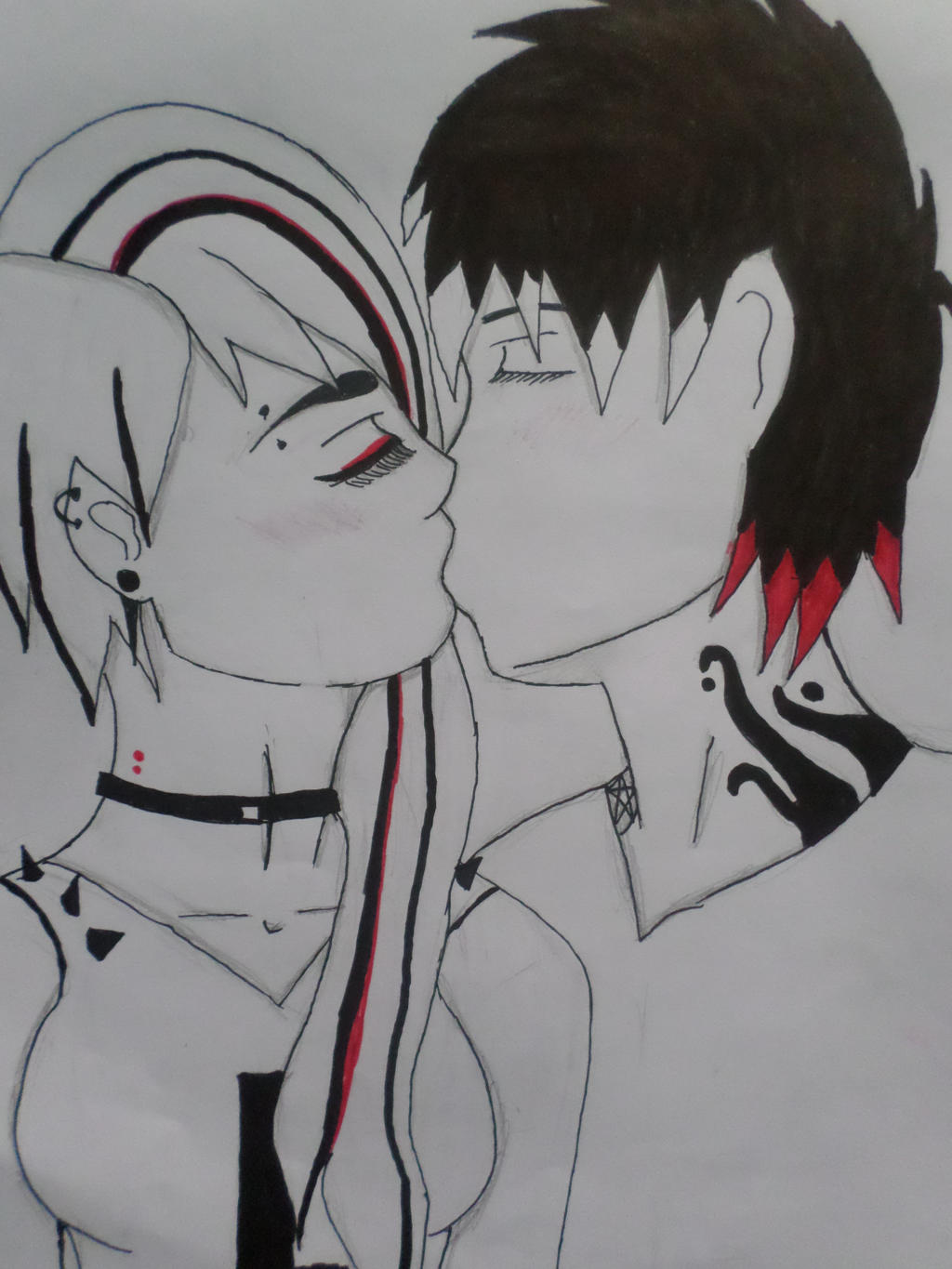 Red and Black couple by Zahyebah