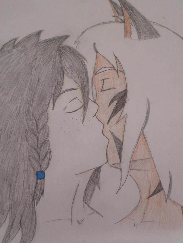 Guys kiss by Zahyebah