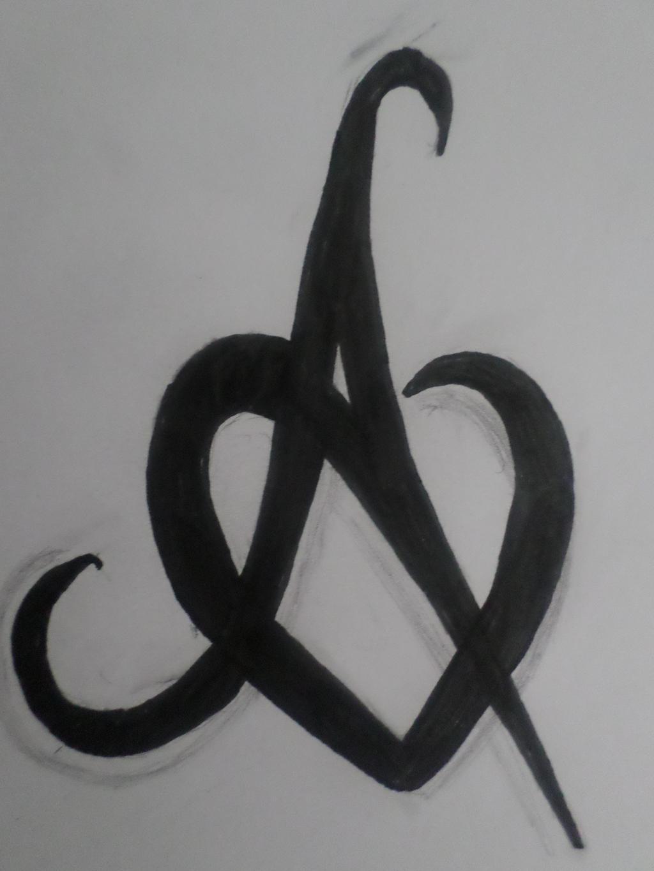 A in heart by Zahyebah