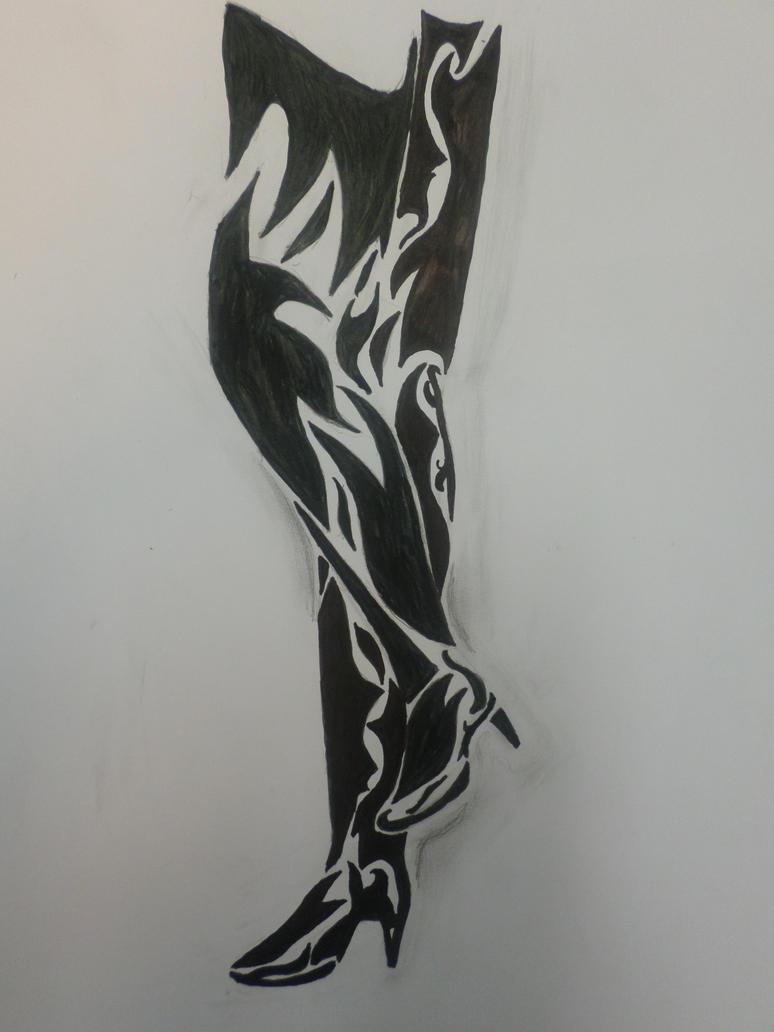 Boots art by Zahyebah