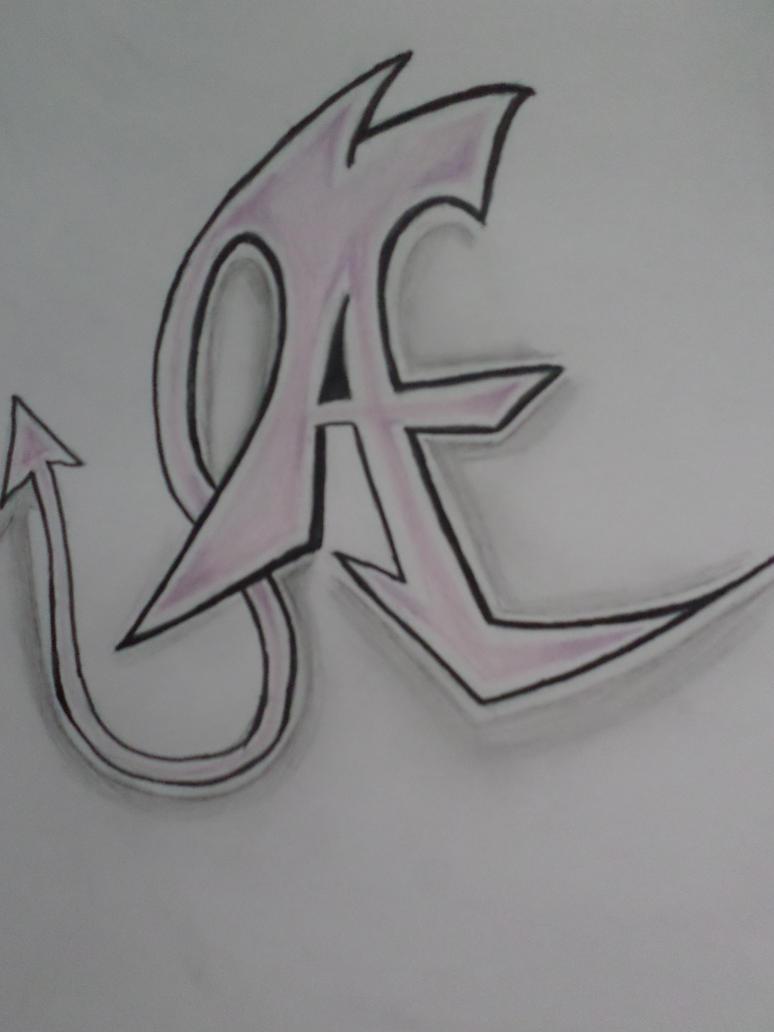 A in graffiti style by Zahyebah