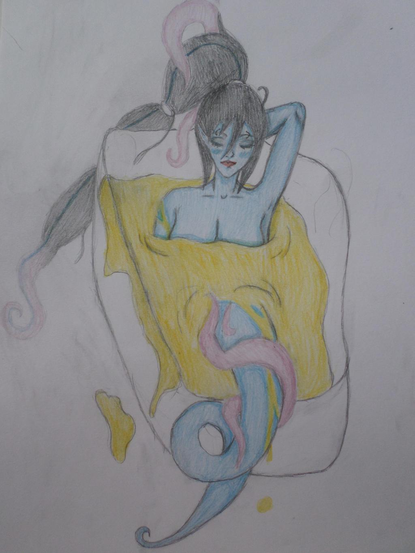 Anahi's gold bath by Zahyebah
