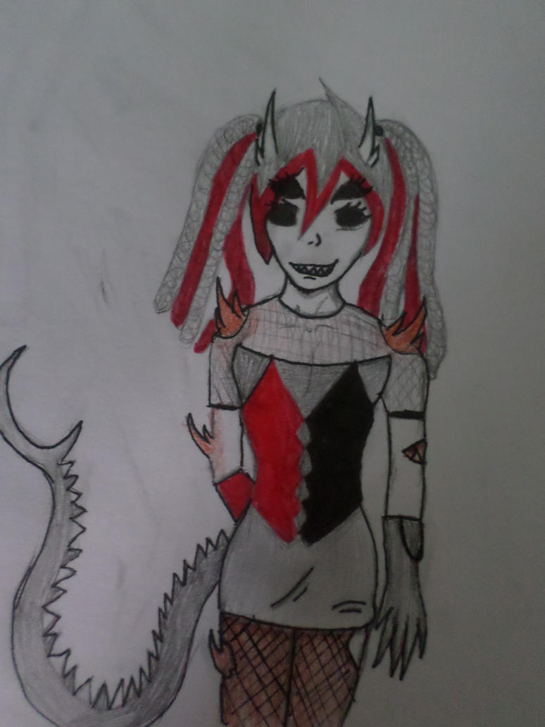Jinx's demon/slender from by Zahyebah
