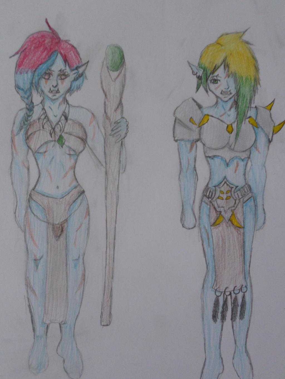 (Troll oc) Sha' Eza and Vajachi by Zahyebah