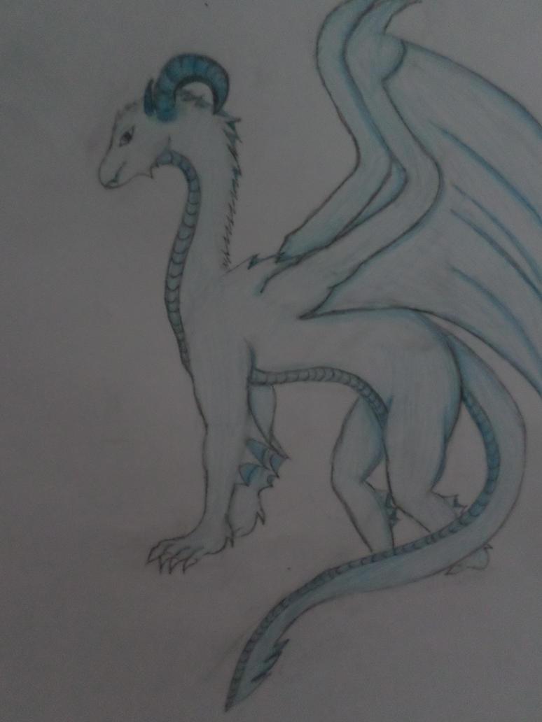The ice dragon~ by Zahyebah