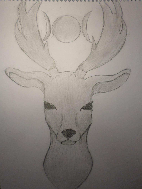 Deer (Art / Shading practice) by Zahyebah
