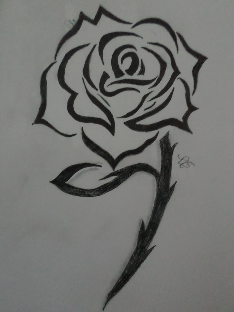 Rose tattoo by Zahyebah