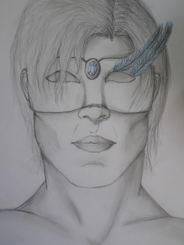 (Realistic portrait/ art class work) Cedric by Zahyebah