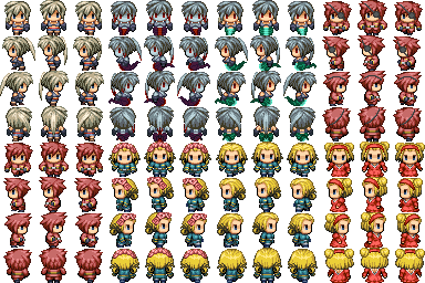 My RPG Maker VX / Ace Custom Sprite sheet by rst64tlc on