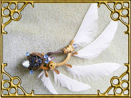 Angel Wing Hat Pin by Teacat-Designs