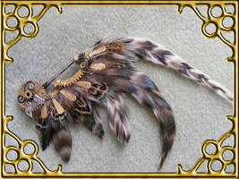 Steampunk Wing Hat Pin by Teacat-Designs