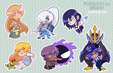 Pokemon tabletop stickers