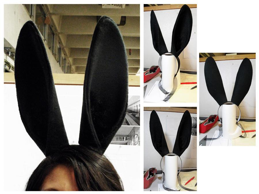 simply black bunny ears by havenaims on deviantart
