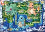 3 Starters in Kanto in Pokemon