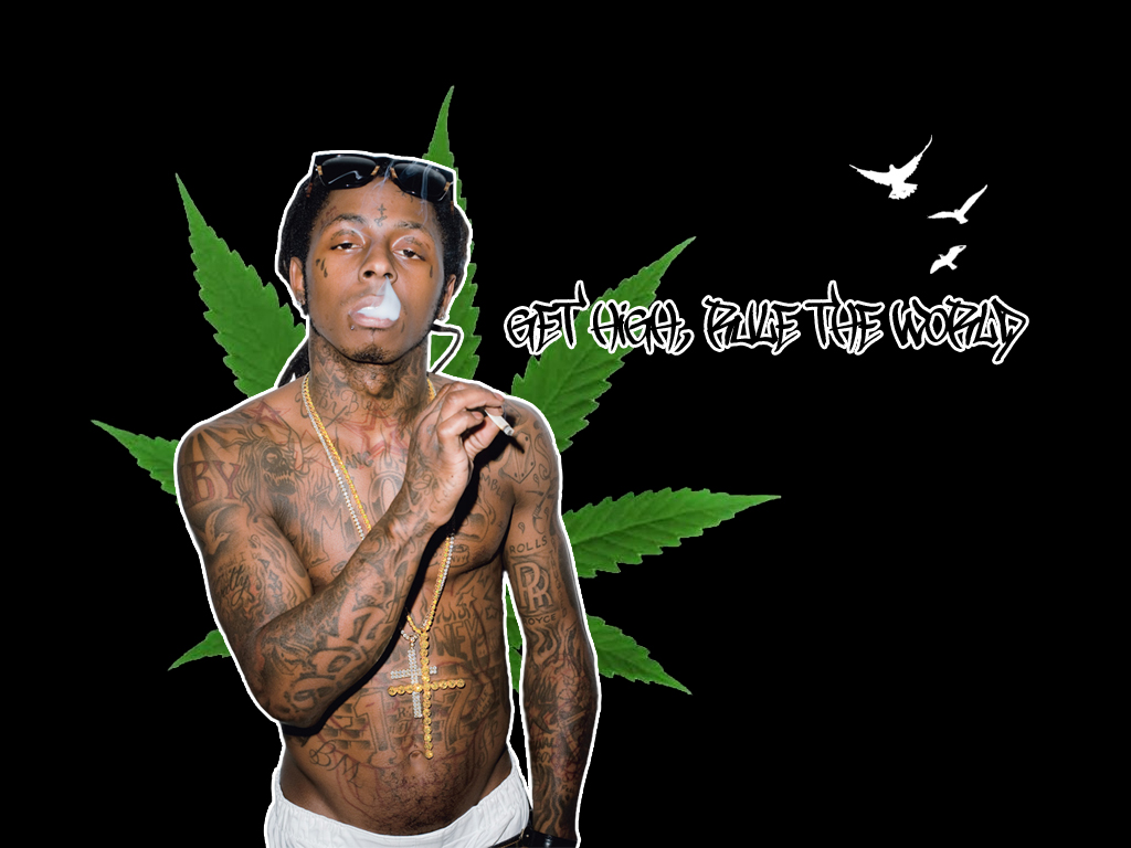 Lil Wayne Weed by petemoranLil Wayne Smoking Colorful Weed