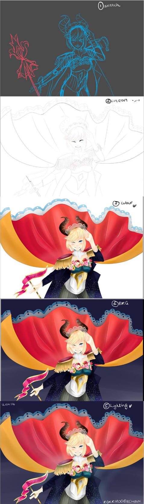 Ringleader Progress Sketch-BKG by RokkiPoobieChan