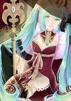 Evil King Miku by rosheruuu