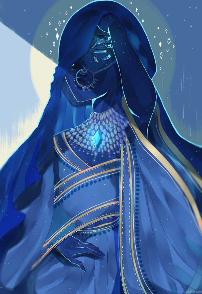 "♥ have you seen the new episodes of su?!!! Like!!! I can already tell Blue Diamond is going to be my fave //// this is just my interpretation of ""my diamond"". The eyes were inspired by rather..."