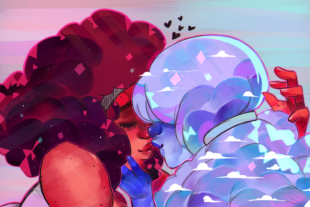 I'm not even uploading these in order, I just want you guys to see it lmao ///// This got so many notes on tumblr I was freaking out!! But I do love my baby gems, their love is so pure