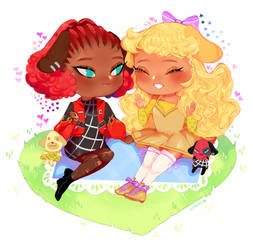 cherry and goldie - animal crossing