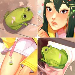 tsuyu zine preview!! by rosheruuu