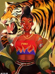 TIGER GRRL by rosheruuu