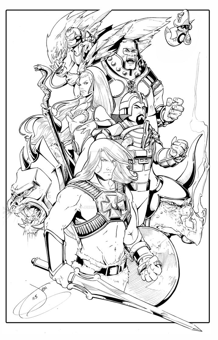 Heman Group Inks by JenBroomall