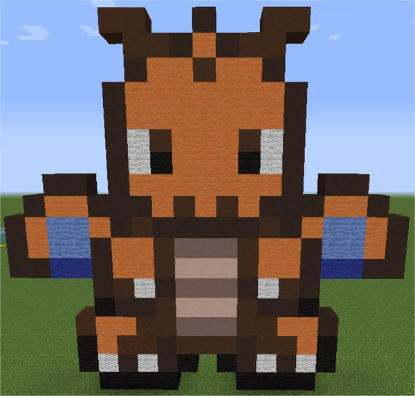 Dracolosse / Dragonite Minecraft By Zeldienne On DeviantArt