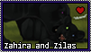 Asmundr : Zahira and Zilas stamp by Zeldienne