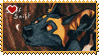Africa : Wild dog pup 1 stamp by Zeldienne