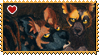 Africa : Wild dogs pups stamp by Zeldienne