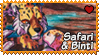 Africa : Safari and Binti stamp by Zeldienne