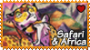 Africa : Safari and Africa stamp by Zeldienne