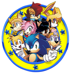 Freedom Fighters Emblem /Archie Sonic Online by Drawloverlala